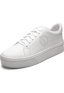 Tênis Couro Dumond Logo Branco