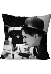 Capa De Almofada Avulsa Decorativa Charlin Chaplin 45X45Cm