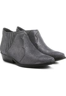 Bota Couro Chelsea Shoestock Cano Curto Feminina - Feminino
