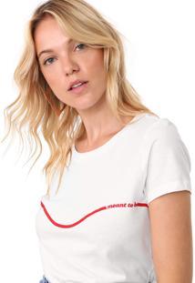 Camiseta Only Reta Meant To Be Branca