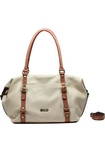 Bolsa De Couro Recuo Fashion Bag Sacola Off White