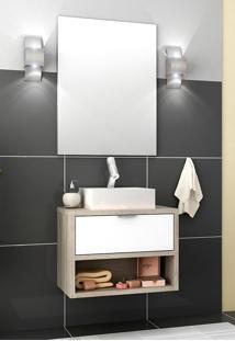 Conjunto Para Banheiro Malta Barrique/Branco Brilho Bosi