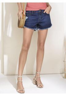 913f83445b Dzarm Web Store. Shorts Jeans De Algodão Na Base Quadradinho Com Barra  Desfiada