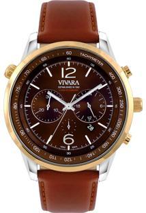 929cdc8a21d ... Relógio Vivara Masculino Couro Marrom - Ds13700R0J-2