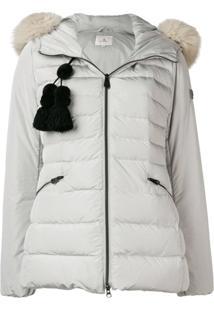 Peuterey Zipped Hooded Jacket - Cinza