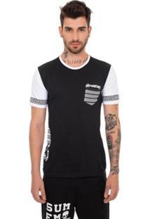 Camiseta Sumemo Grega Com Bolso Masculina - Masculino