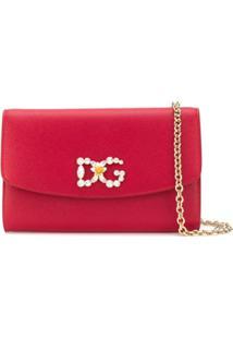 Dolce & Gabbana Underwear Clutch Com Aplicações - Vermelho