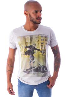 Camiseta Bossa Decote Canoa Joker Vs Bat Cinza