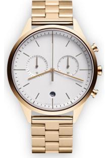 Uniform Wares Relógio Cronógrafo 'C39' - Metálico