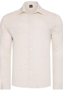 Camisa Masculina Rustic Linen - Bege