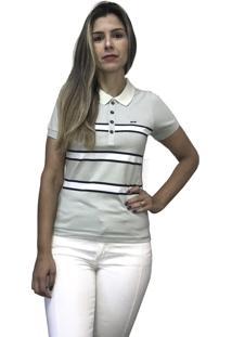 Camisa Hifen Pólo Listrada Verde - Kanui