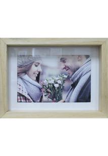 Porta Retrato Em Madeira Caixa Liso 13X18Cm Cerejeira