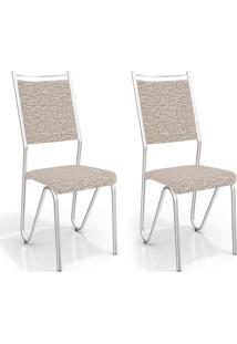 Conjunto 2 Cadeiras Londres Linho Marrom