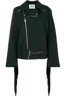 Msgm Perfectly Fitted Jacket - Preto
