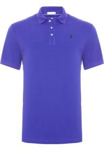 Camisa Pólo Curta Roxa masculina  890543ceb27c3