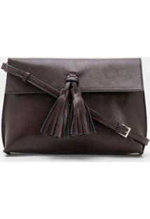 Bolsa Clutch Com Tassel Frontal