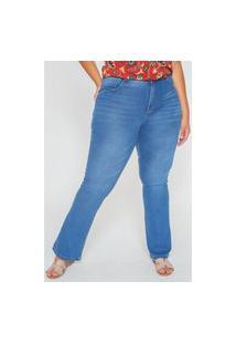 Calça Flare Plus Size Azul Calça Flare Plus Size Azul 56 Kaue Plus Size