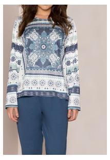 Pijama Longo Clássico Pzama (100002) Moletinho