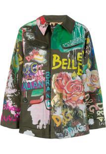 Dolce & Gabbana Jaqueta Com Estampa De Grafite - Verde