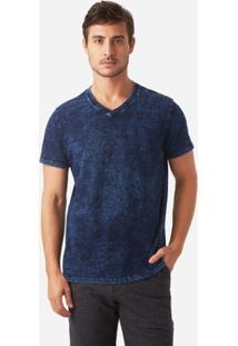 T-Shirt Foxton Gola V Indigo Masculina - Masculino