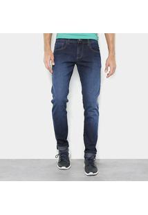 Calça Jeans Slim Forum Igor Masculina - Masculino-Azul