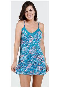 Camisola Feminina Alças Finas Estampa Floral Marisa