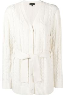 Cashmere In Love Cardigan De Tricô - Branco