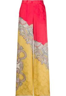 Etro High-Waisted Flared Trousers - Rosa