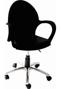Cadeira Com Rodízio Grace Preta 92078009 Tramontina