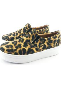 Tênis Flatform Quality Shoes Feminino 009 Animal Print 35