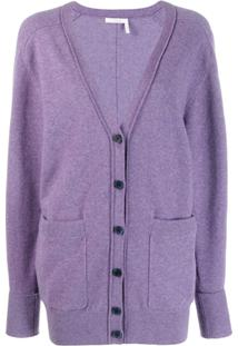 Chloé Cardigan Gola V - 575 Shadow Purple