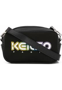 Kenzo Bolsa Transversal Com Detalhe De Logo E Recortes Mesh - Preto