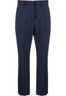 Paul Smith Calça De Alfaiataria Cropped - Azul