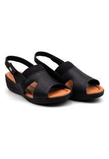 Sandalia Comfort Flex Lycra Anabela - 2088404