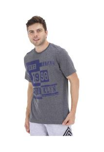 Camiseta Fatal Estampada 20251 - Masculina - Cinza Escuro