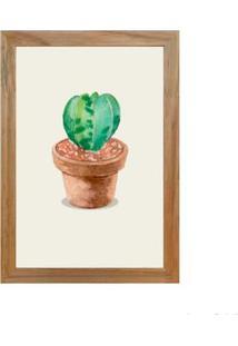 Quadro Decorativo Cactus I 23X33Cm Rústico Infinity