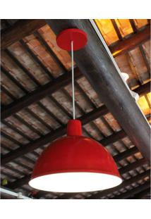 Luminária Tipo Pendente Bivolt Td821 Taschibra Vermelho Vermelho