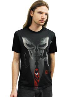 Camiseta Manga Curta Alkary Gravata Preto