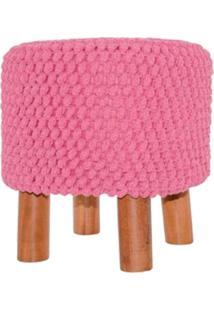 Puff Croche Rosa 38X38Cm Lé Crochet