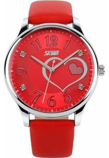 Relógio Skmei Analógico 9085 - Feminino-Vermelho
