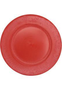 Sousplat Liso- Vermelho- 2Xã˜33Cm- Btc Decorbtc Decor