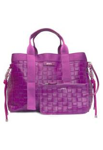 Bolsa Feminina Shopping Bag Khloe - Roxo