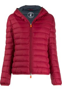 Save The Duck Padded Hooded Jacket - Vermelho
