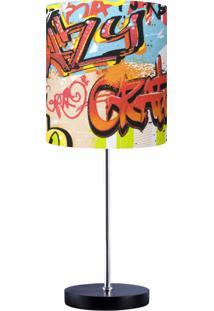 Abajur Carambola Grafite Fun Colorido
