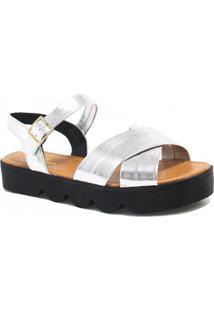 Sandália Flatform Zariff Shoes Fivela