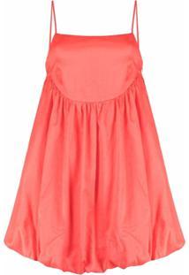 Gina Vestido Decote Quadrado - Rosa