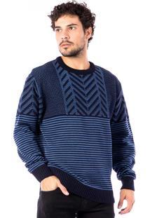 Blusa Tricot Carlan Fashion Decote Redondo