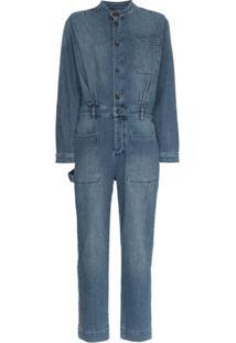 Frame Macacão Jeans 'Painter' - Azul