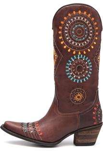 Bota Elite Country Omaha Couro Rock Oil Camel - Kanui