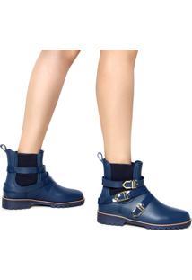 Bota Chelsea Petite Jolie Fivelas Azul